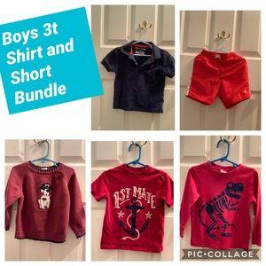 Boys 3t Sweater Shirt and Short Bundle